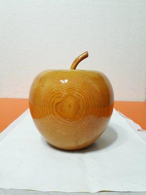 【九龍藝品】精選檜木 ~ 蘋果聚寶盆 ~ 寬約12公分 ( S4 )
