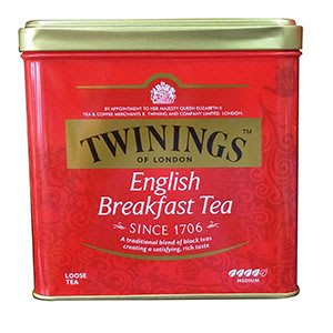 TWININGS 唐寧紅茶-英倫早餐茶 罐裝茶葉/500g-【良鎂咖啡精品館】