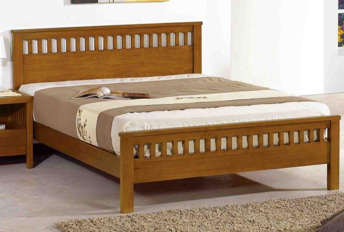 【DH】貨號N034-3名稱《維娜》3.5尺精製柚木色實木單人床架(圖一)實木床底.備有5尺.6尺可選
