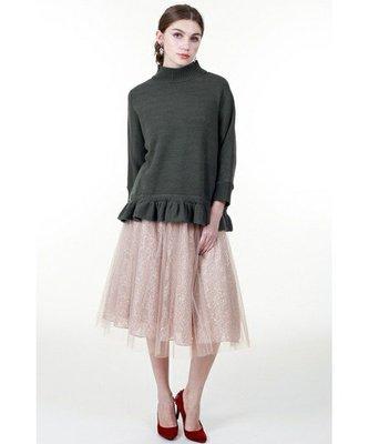 日本Grace Continental 淡粉金亮片紗裙