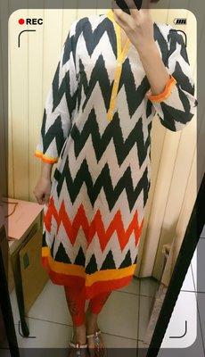 5. 聲波意象場庫塔 Designer's Kurta (庫緹 Kurti) 印度舞衣服飾 上衣 寶萊塢設計師款