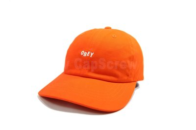【ScrewCap】OBEY CAP JUMBLE BAR III 6 PANEL ORANGE 亮橘