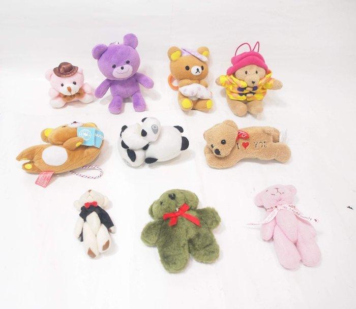 二手, 拉拉熊,庫柏熊,懶懶熊... 布偶 / 10隻一起賣