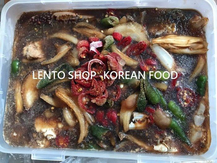 LENTO SHOP -  韓國原裝進口 醃漬醬油螃蟹 醬油蟹 醬蟹  白飯小偷  1公斤