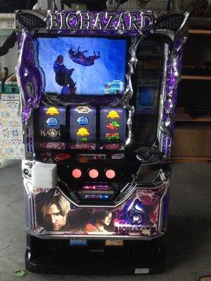 日本原裝機台斯洛SLOT 2015年惡靈古堡6(五號機刺激家用大型電玩遊戲機(拉霸)(各大遊藝場買賣租賃.洽詢唷