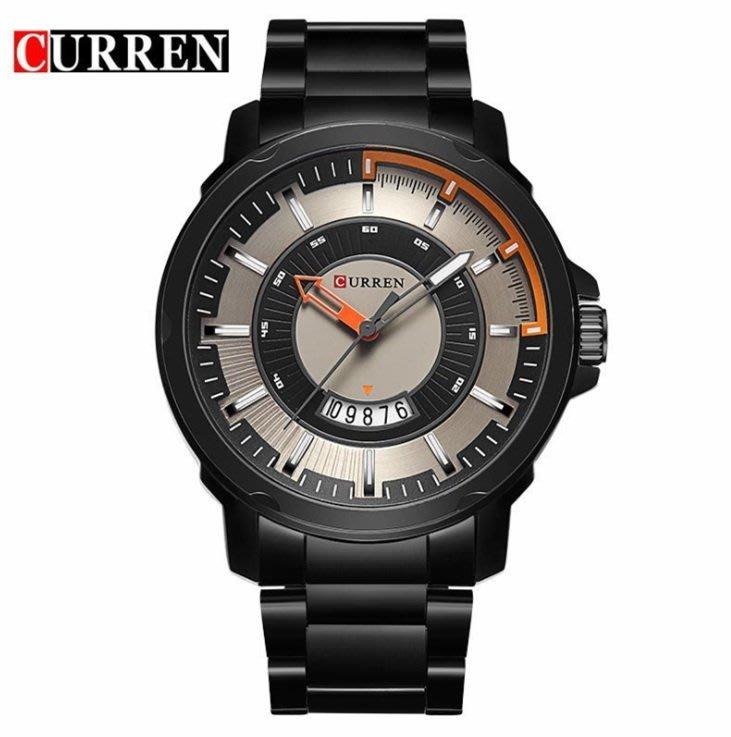 【潮鞋基地】CURREN /卡瑞恩8229男士鋼帶手錶休閒鋼帶手錶男錶