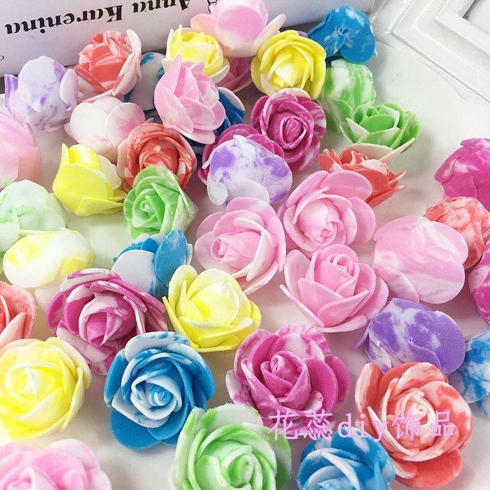 福福百貨~DIY迷彩100朵玫瑰小花頭仿真泡沫PE花朵手工裝飾花花環婚禮用花花車裝飾~