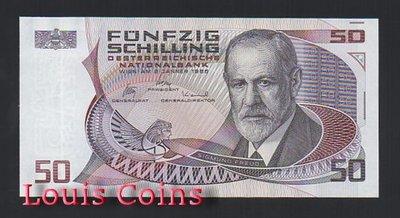 【Louis Coins】B664-AUSTRIA--1986奧地利紙幣50 Schilling