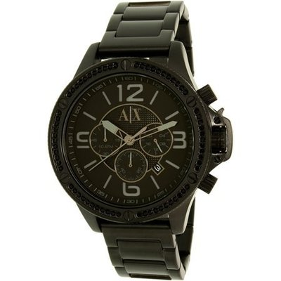 AX1520 48mm Black IP Stainless Steel Y Link Bracelet Watch