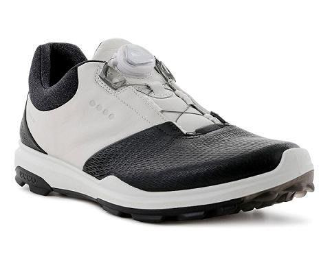 (易達高爾夫)全新原廠ecco BIOM HYBRID 3 BOA 黑/白色 男仕 旋鈕 高爾夫球鞋