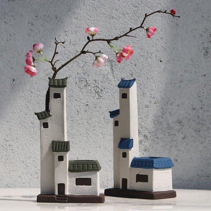 熱賣新中式陶瓷房子擺件玄關擺設工藝品書房辦公室裝飾品盆景#擺件#陶瓷#北歐