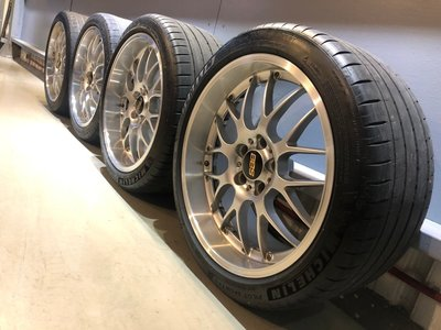 *有車以後汽配*正BBS RS-GT 19吋 兩片式鍛造前後配鋁圈 含米其林胎