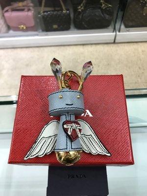 PRADA 1ARF66 可愛天使造型鑰匙圈/吊飾