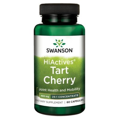 【 Swanson 】HiActives Tart Cherry酸櫻桃 465mg/60顆