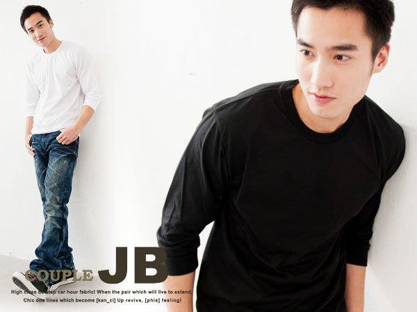 JB 專業衣廠【J0810】 台製韓風萬搭極選~潮男必備混搭~純棉素面多色 七分袖T