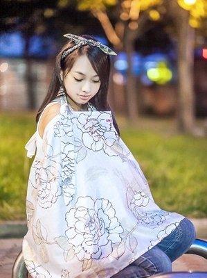 [小寶的媽] Una 多功能棉柔哺乳巾 餵奶巾/ 立體視窗不倒塌 / 360度全面遮蔽( 浪漫花漾 )