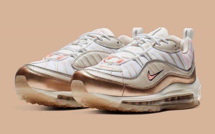 【Cheers】 Nike Air Max 98 白玫瑰金 粉色 氣墊 復古慢跑鞋 CI9907-100 女鞋 歐美限定