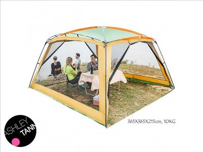 超大帳蓬 戶外用品 花園天台涼棚 露營 8-10人 燒烤 遮太陽 便攜式 折疊 沙灘開PARTY 天幕 camping tent shelter  CA038