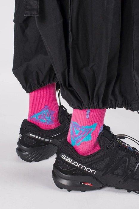 { POISON } NOZZLE QUIZ SPEED S1 螢光粉 中筒橫紋羅織襪