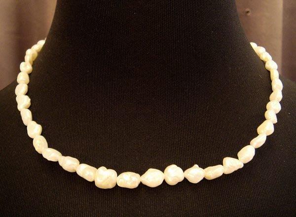 全新從未戴過典雅天然珍珠造型項鍊,賣場有四條同材質,編號 4 - 4!低價起標無底價!本商品免運費!