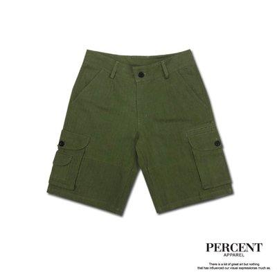 人字紋工作短褲 WS6005 綠色 藤...