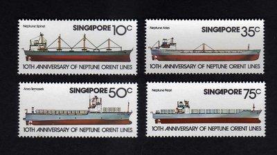 ~中外郵舍~新加坡1978  #39 s船郵票