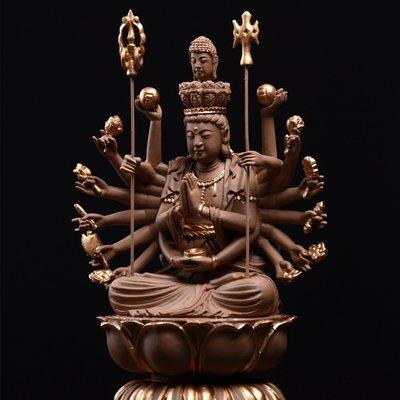 傳藝工坊 - 『千手觀音』(小)  千手觀音菩薩  陶土 陶塑 /附底座 小佛像
