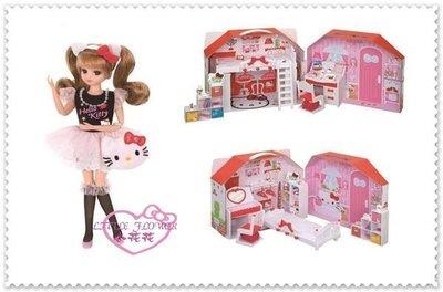 ♥小公主日本精品♥ Hello Kitty日本莉卡娃娃KITTY特別款娃娃玩具莉卡房屋50051908