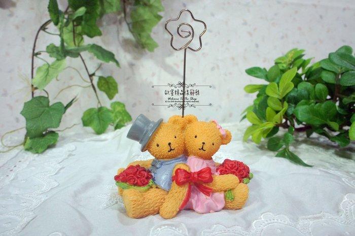 ~*歐室精品傢飾館*~日式zakka鄉村雜貨 可愛 玫瑰捧花 泰迪小熊 名片夾 辦公小物 婚禮布置~新款上市~