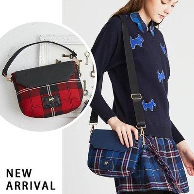 全新 Scottish house 經典紅黑格紋 手提/肩背/斜背包