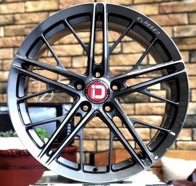 全新鋁圈 美國 KlasseniD F53R 19吋旋壓鋁圈 5孔 100 108 112 114.3 鈦灰刷髮絲
