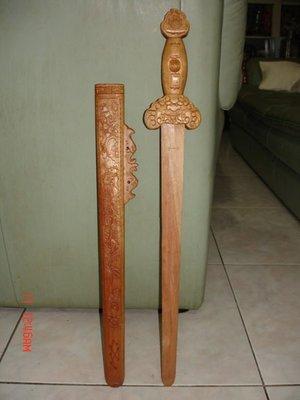 收藏一把雕刻精緻少見的 魁星踢斗 劍