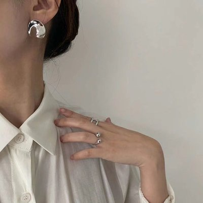 Irregular Dots  不規則波點亮面耳環 Simple Modern [正韓] 韓國連線 【NN227】