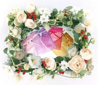 【禮品用珍珠雪紗袋批發 】8x10、10x15、12*17、15*20、20x25素面及花朵式