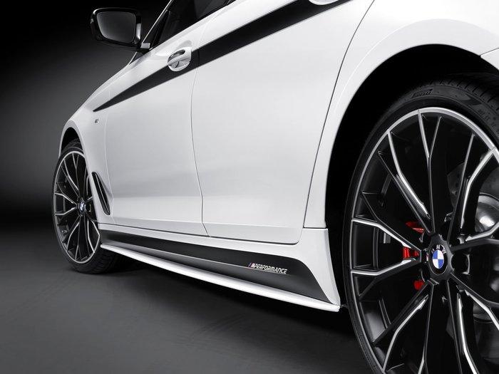 【樂駒】BMW G30 5 Series M Performance 原廠 改裝 套件 車側 車身 側裙 貼紙 空力