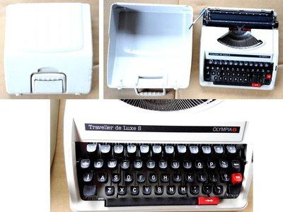 OLYMPIA AEG Traveller de Luxe S 打字機 附手提式外殼