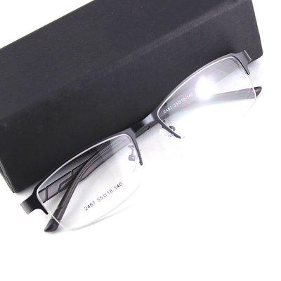 半框男款眼镜架合金TR板材腿