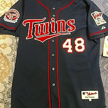 Torii Hunter MLB Majestic 絕版 明尼蘇達雙城球員版球衣 size 48