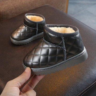 童靴 女童加絨雪地靴冬兒童正韓棉鞋男童加厚靴軟底兒童短靴子-小精靈