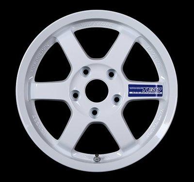 日本 Volk Racing Rays 鍛造 鋁圈 TE37 GRAVEL 純白 14吋 15吋 100 114 五孔