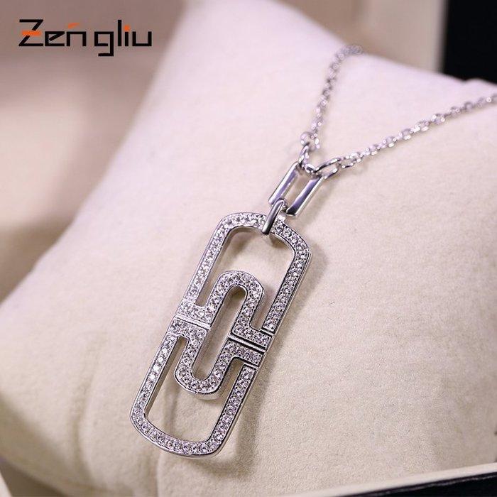 鎖骨鏈 項鏈 吊墜 項鏈 韓系 禮物 925銀項鏈鎖骨鏈 女歐美短款時尚配飾 大吊墜裝飾品