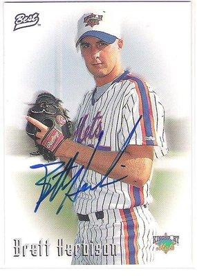 1997 Best Autograph Series  Brett Herbison  新人簽名卡 卡面簽