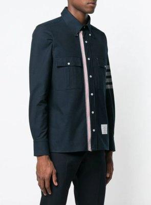 Thom Browne Norfolk Pocket Rwb Stripe Shirt
