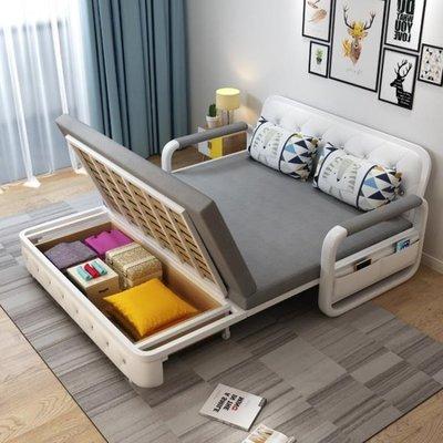 現貨!兩用可摺疊沙發床客廳多功能雙人1.5米小戶型布藝實木儲物沙發床ATF 知木屋新品 正韓 折扣
