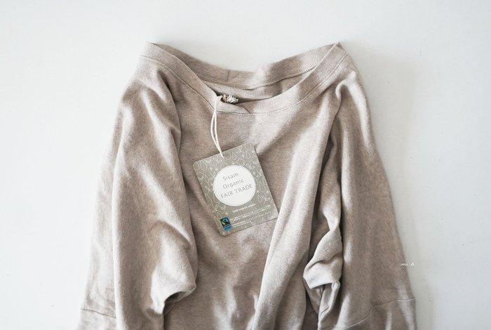 MH選物室 日本 SISAM 公平貿易 有機棉 2way 舒適 觸感佳 素色 七分袖 上衣 厚棉T T恤