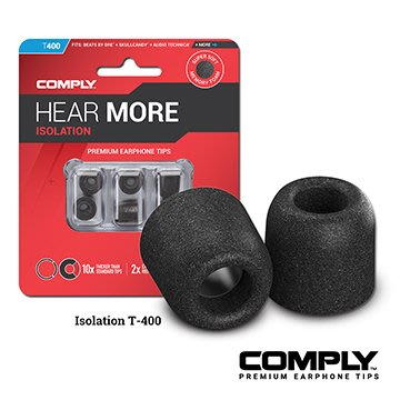 Comply T-400 記憶泡綿耳塞 (3-pair) 入耳式海棉耳塞 三對一組 吊卡裝 大中華代理 台灣公司貨 真品