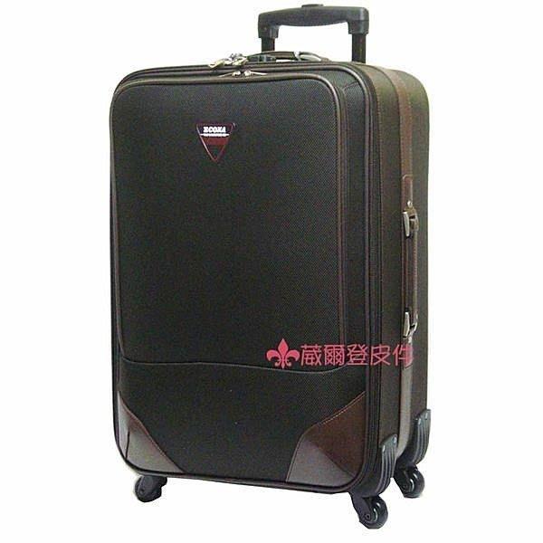 【補貨中缺貨葳爾登】ECONA愛可那24吋登機箱360度旋轉旅行箱行李箱/多功能上蓋板24吋951咖啡色