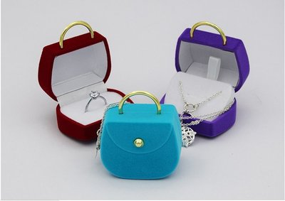 飾品包裝高質感絨布手提包 包裝盒
