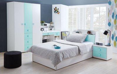 [歐瑞家具]JB-349-1天天晴朗3.5尺床組/不含床墊/系統家具/沙發/床墊/茶几/高低櫃/1元起