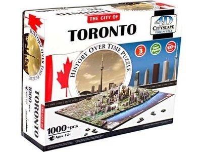 金錢貓雜貨 全新 4D立體拼圖 CITYSCAPE Toronto 多倫多
